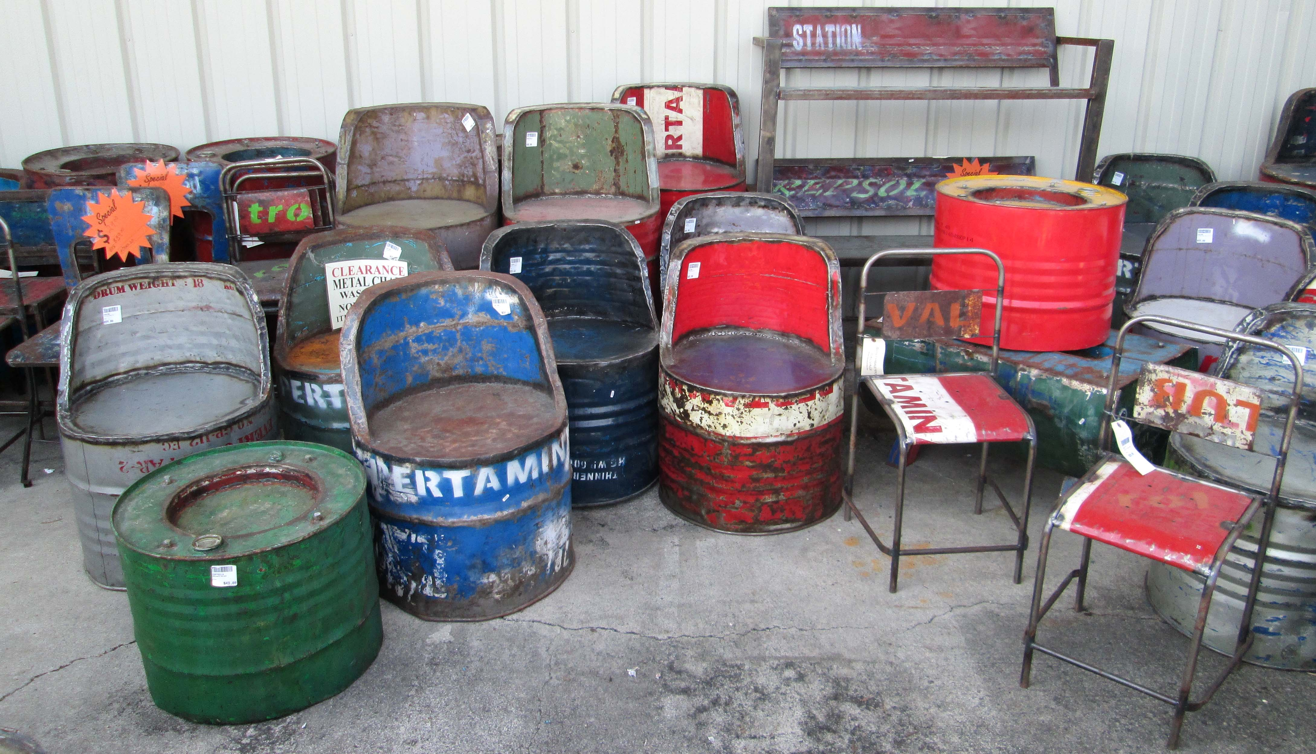 drum furniture tong oil drum furniture 2nds in building materials