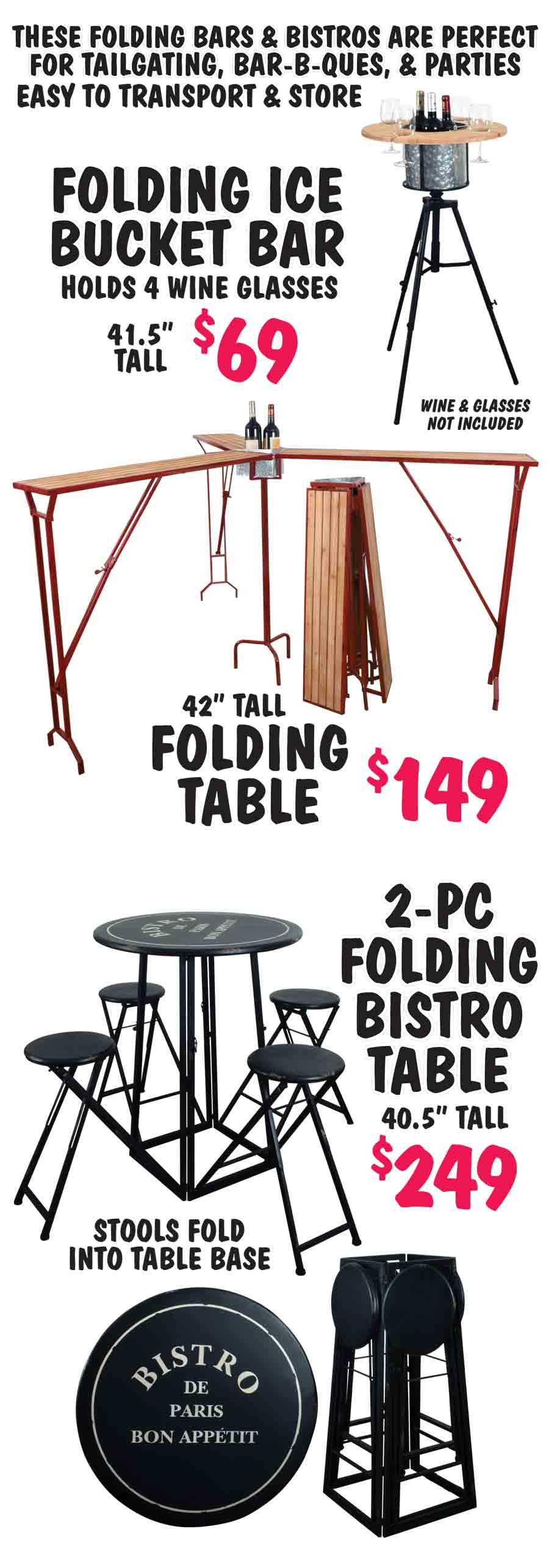Folding Bars & Bistro Sets