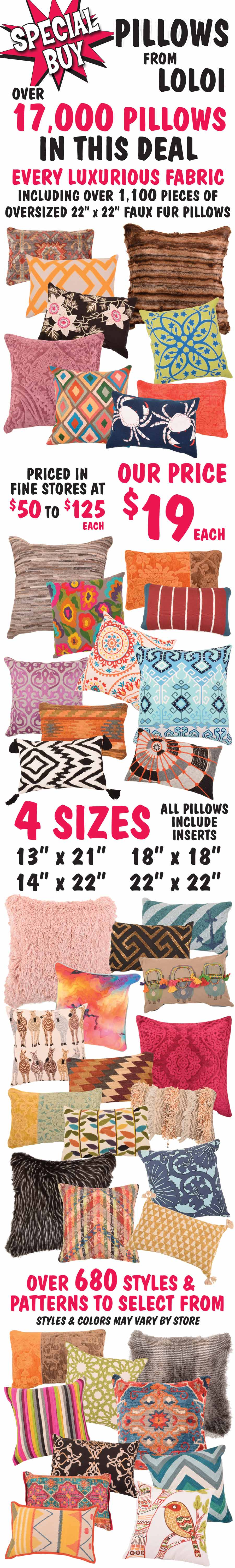 Pillows from Loloi - $19 Special Buy - While They Last!