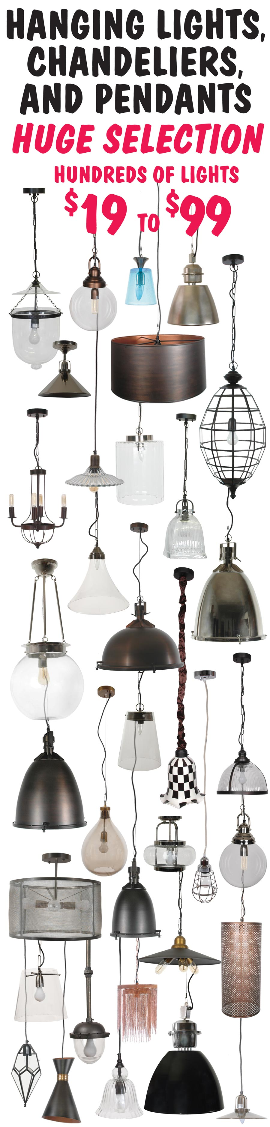 Hanging Lights, Chandeliers, and Pendants