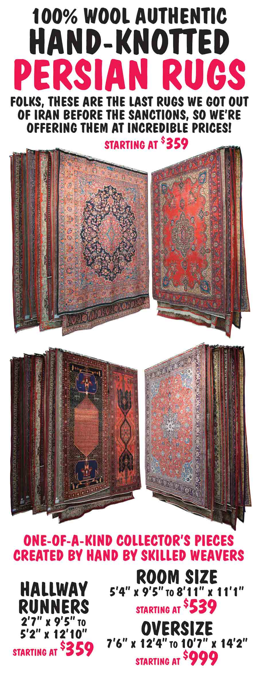 Hand-Knotted Authentic Persian Rugs