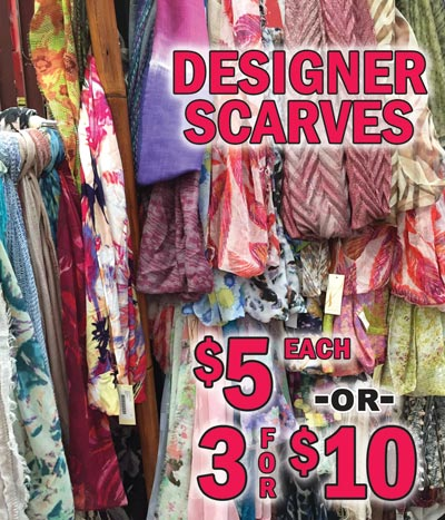Spring Scarves - Special Buy $5 each or 3 for $10 - While they last!
