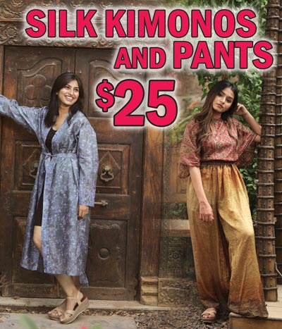 Vintage Silk Kimonos or Lounge Pants - your choice $25