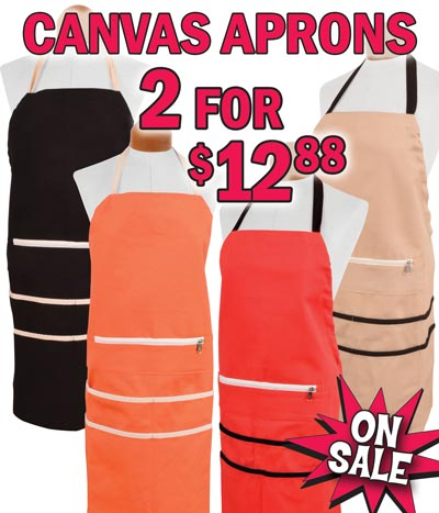 Canvas Aprons On Sale 2 for $12.88