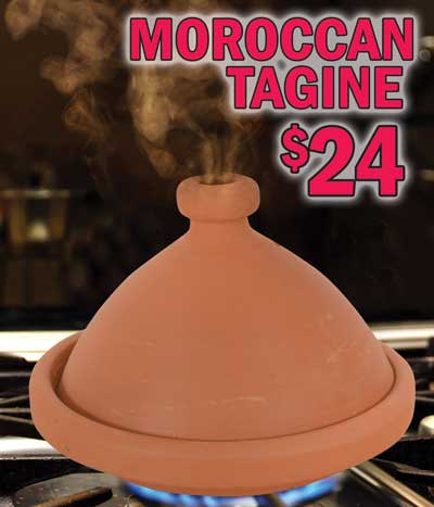 Authentic Moroccan Tagine $24 - bring the taste of Moroccan cooking to your kitchen!