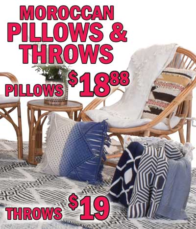 Moroccan Handmade Pillows and Throws - Macrame Pillows $18.88, Throws $19