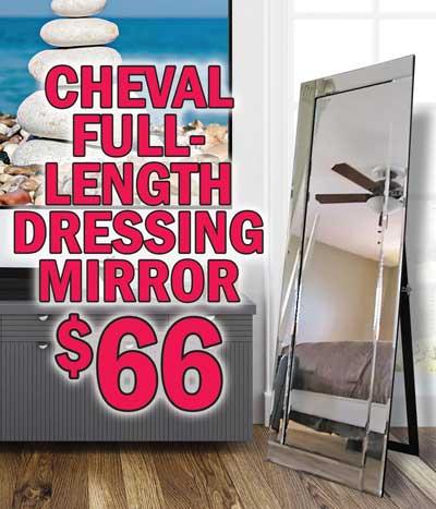 Cheval Full-Length Dressing Mirror $66