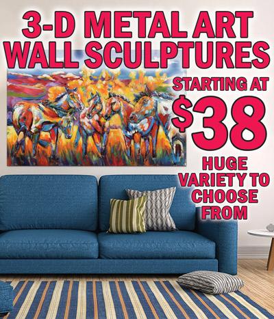 3-D Metal Art Wall Sculptures – starting at $38