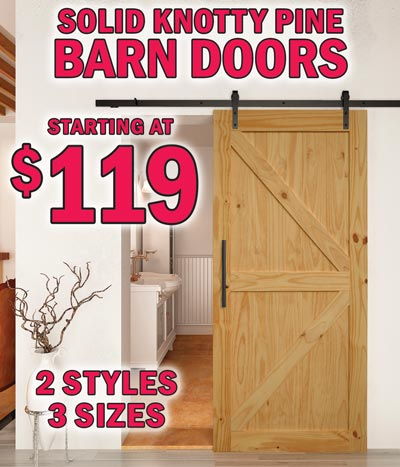 Sliding Barn Doors starting at $99