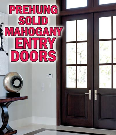 Solid Mahogany & Knotty Alder Entry Doors