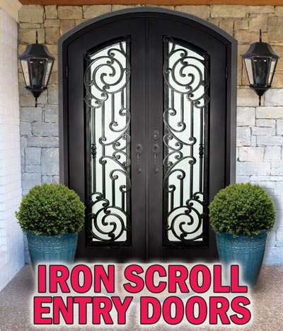 Iron Scroll Entry Doors starting at $2,499