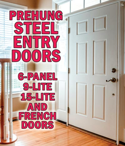 Steel/Fiberglass Entry Doors