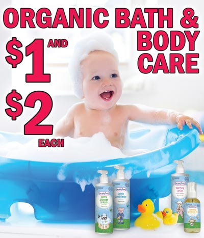 Healthy Times Organic Bath and Body Care - Shampoo and Conditioner $2 each, Sunflower Oil and Lotion $1 each