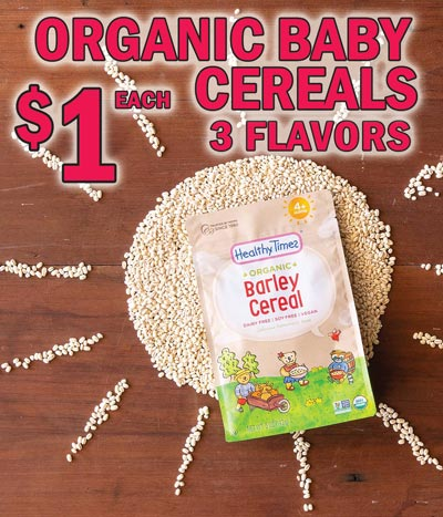 Healthy Times Organic Cereal - $1 per package - 3 Flavors