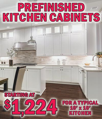 Prefinished Kitchen Cabinets Typical 10' x 10' Kitchen starting at $1,224