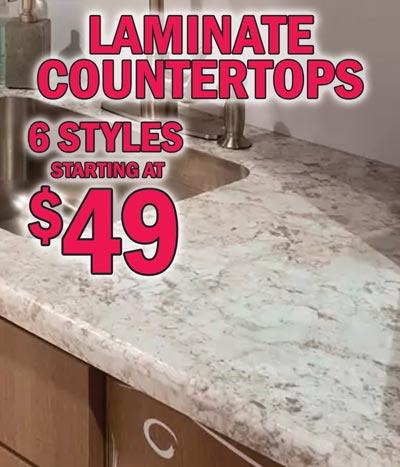 Laminate Countertops – 6 colors – 6' starting at $49