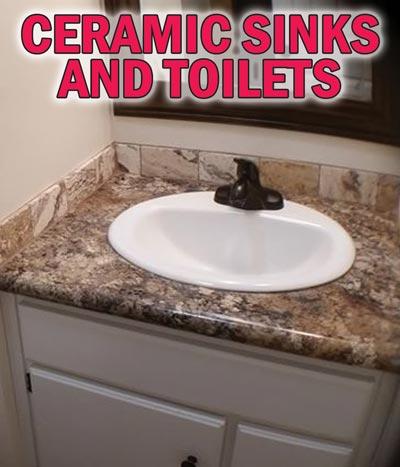 Ceramic Bath Sinks and Toilets