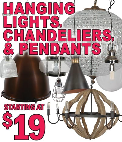 Hanging Lights, Chandeliers, and Pendants