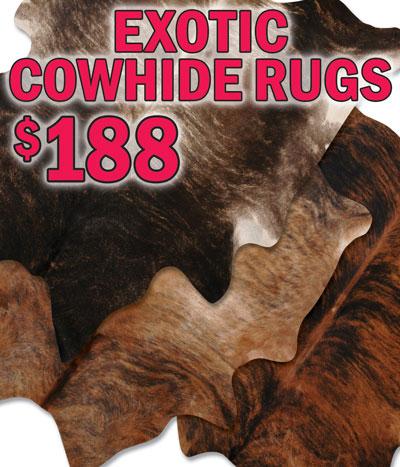 Exotic Cowhide Rugs $188