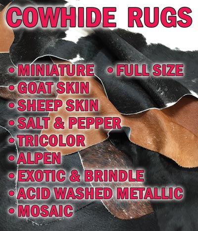Brazilian Cowhide Rugs Huge Variety of Styles