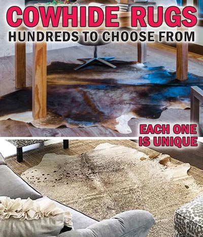 Brazilian Cowhide Rugs Hundreds to Choose From