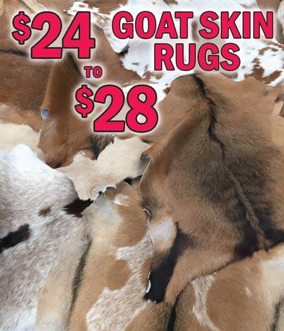 Goat Skin Rugs $24 - NEW ARRIVAL