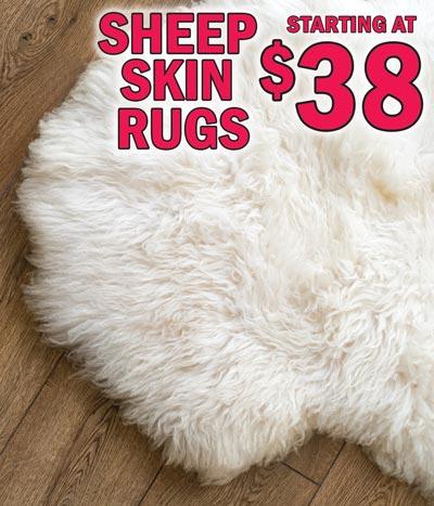 Genuine Sheep Skin Rugs $48 - NEW ARRIVAL