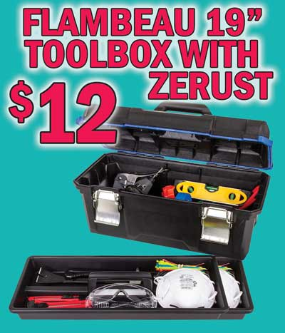 Flambeau 19 inch Toolbox with Zerust - $12