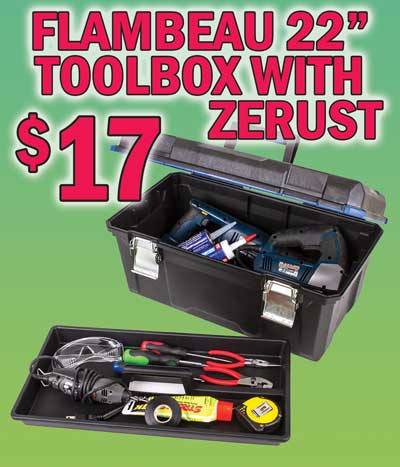 Flambeau 22 inch Toolbox with Zerust - $17