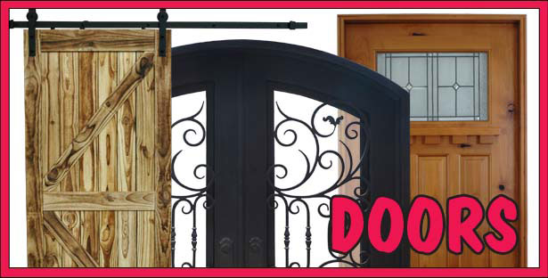 We carry a Wide Selection of Interior and Exterior Doors for your home