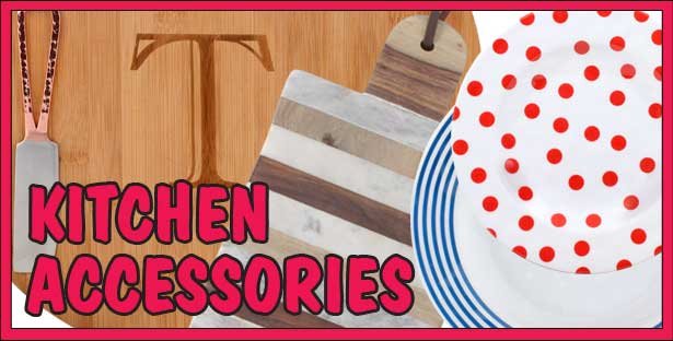 Cutting Boards and Cookware, Napkins and Dinnerware, Towels and Aprons