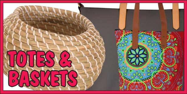 Totes, Purses, Bags, Baskets, and Hampers for all your Fashion and Storage needs