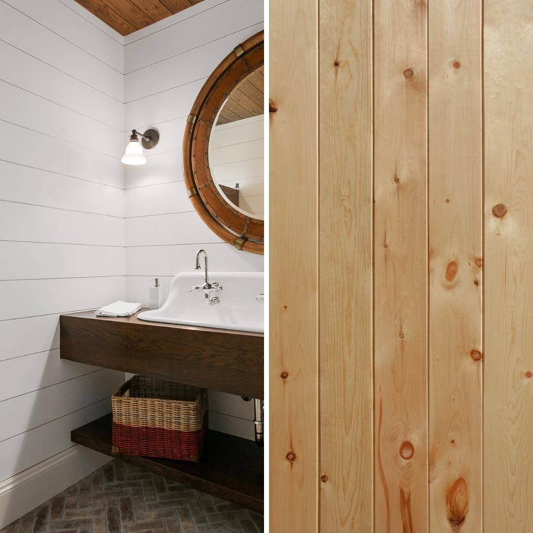 Add a little bit of texture with shiplap. Create an accent wall, wainscoting, and more. Stain or paint it to meet your needs.