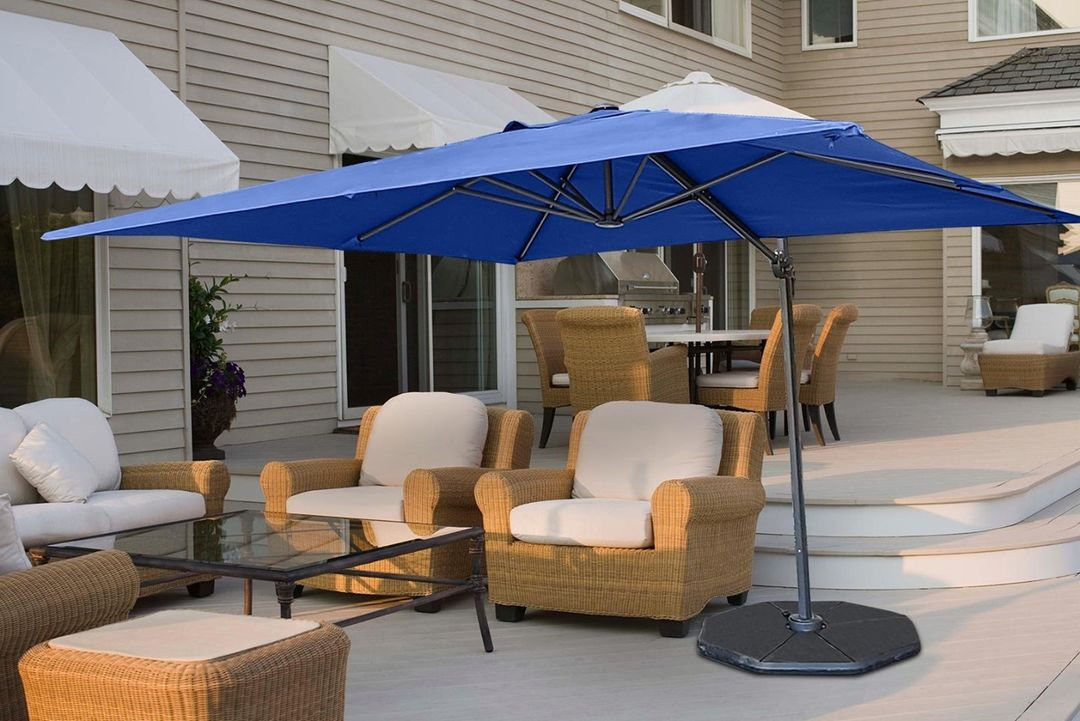 Create a comfortable backyard escape with our Cantilever Patio Umbrellas! Available in 4 colors, $239 each.