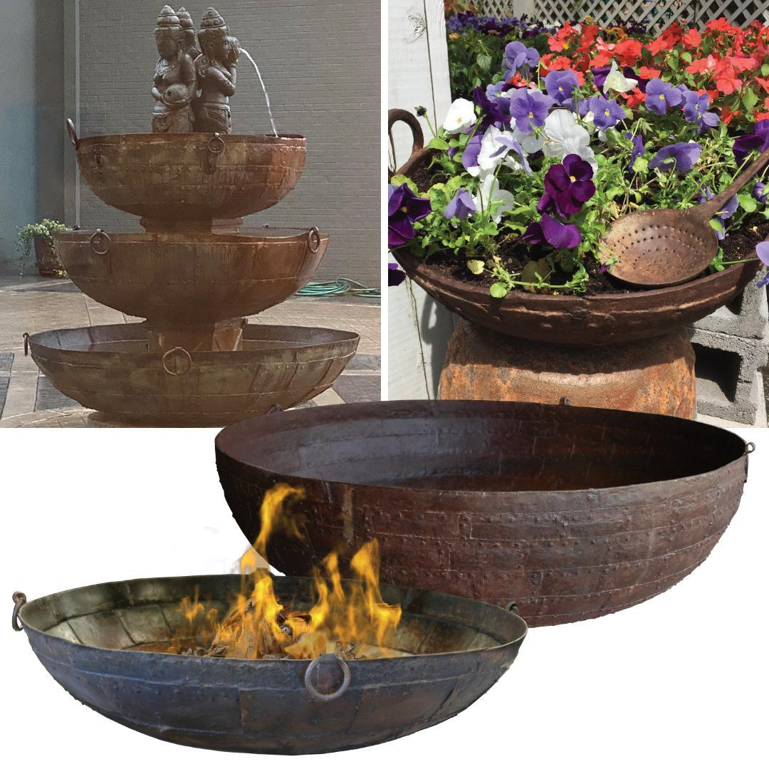 Special price! Our Hand-Forged Iron Firebowls in 12