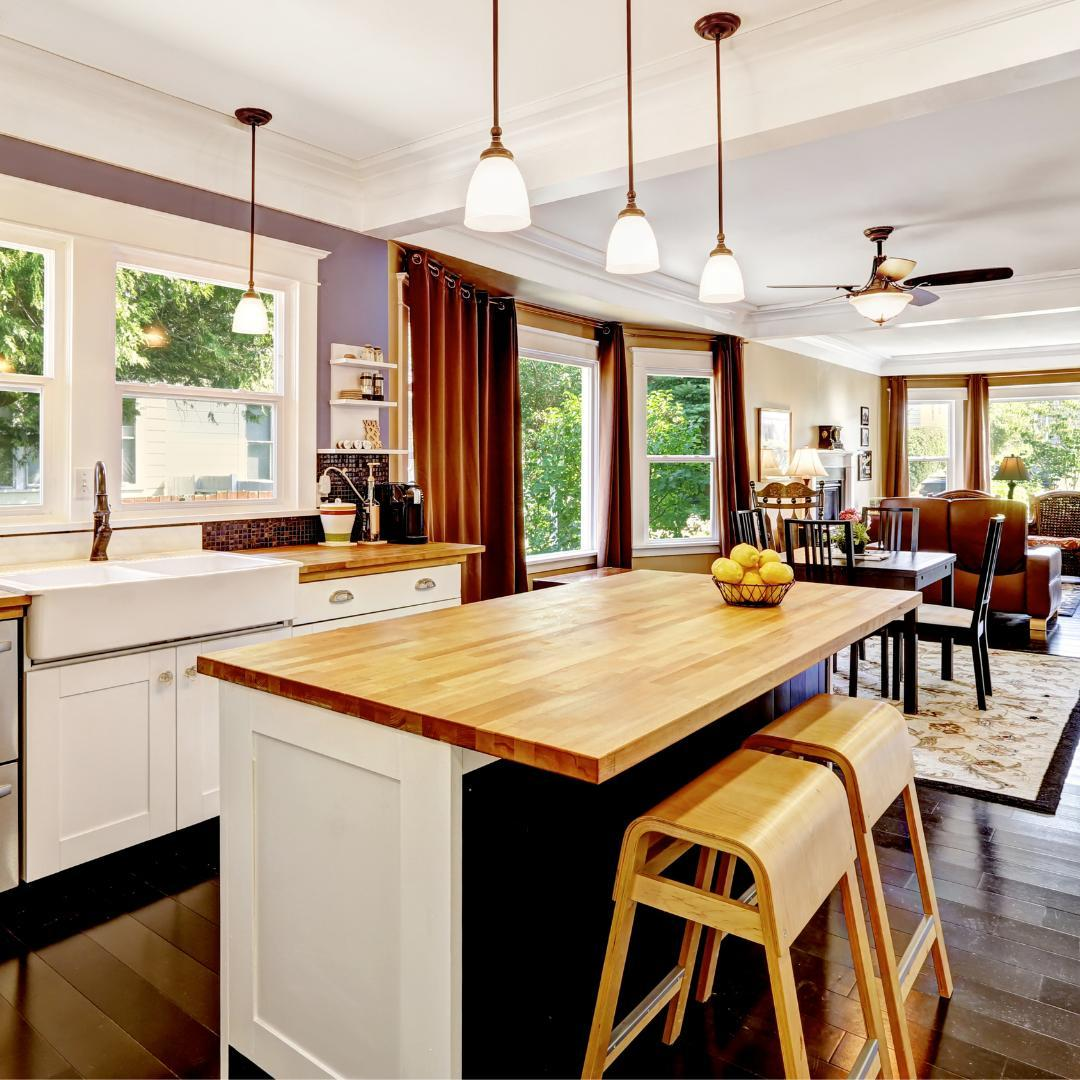 Recreate this look with a slab of our butcher block. We carry a variety of hardwoods.