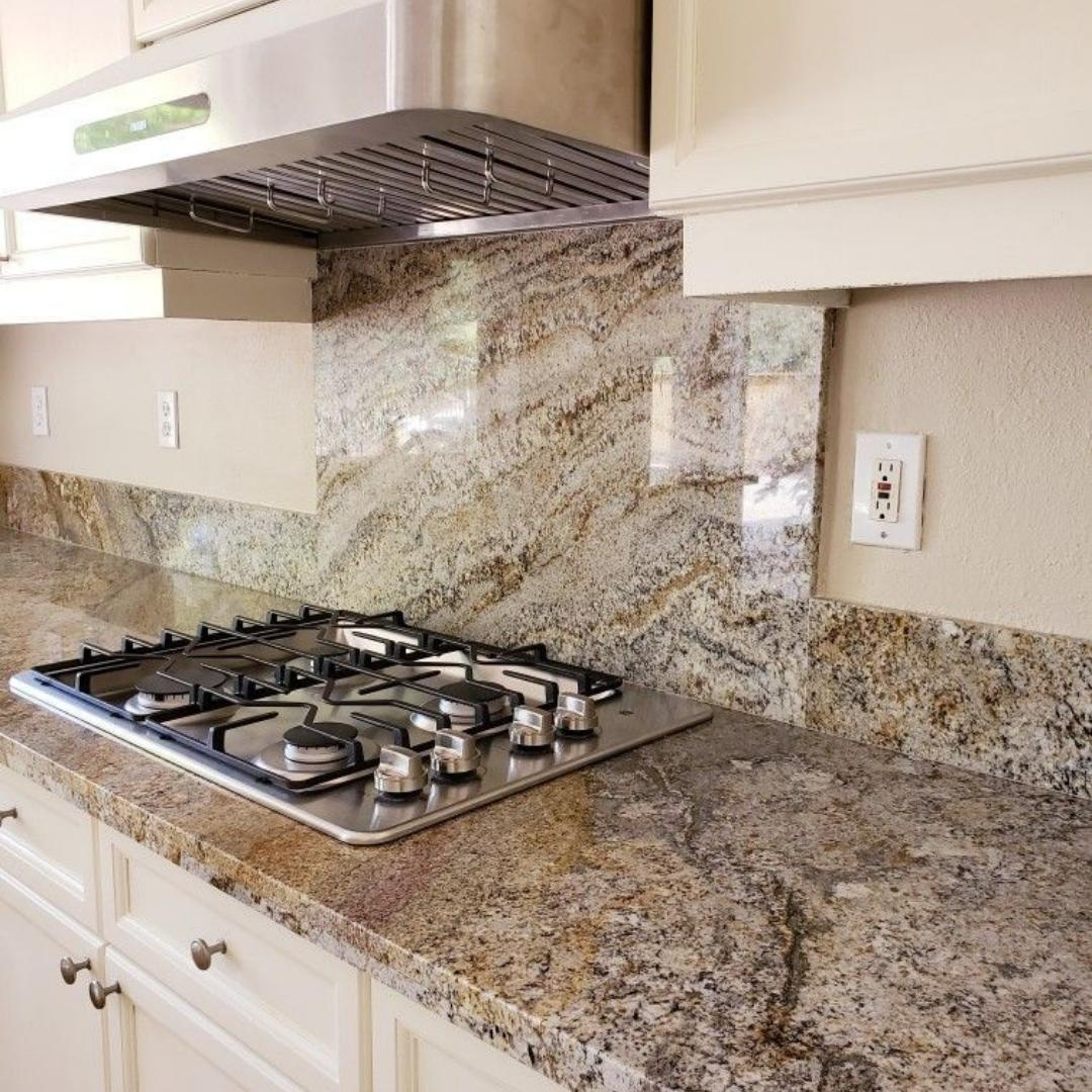 Granite Countertops are available at select locations including Irondale/Birmingham, Chattanooga, Columbia, Greenville, Mobile, and Chesapeake.
