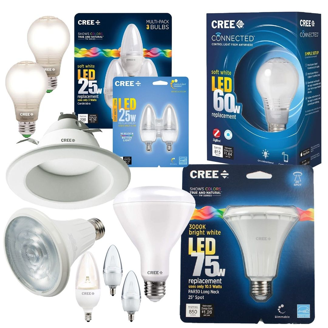 New item! We have Cree LED Bulbs for sale. You'll find dimmable indoor/outdoor, A19, flood lights, spot lights, candelabra bulbs, and recessed bulbs. Our competitors have these for $6 to $34.99—almost all of ours are just $3.99**!  **Excludes 6