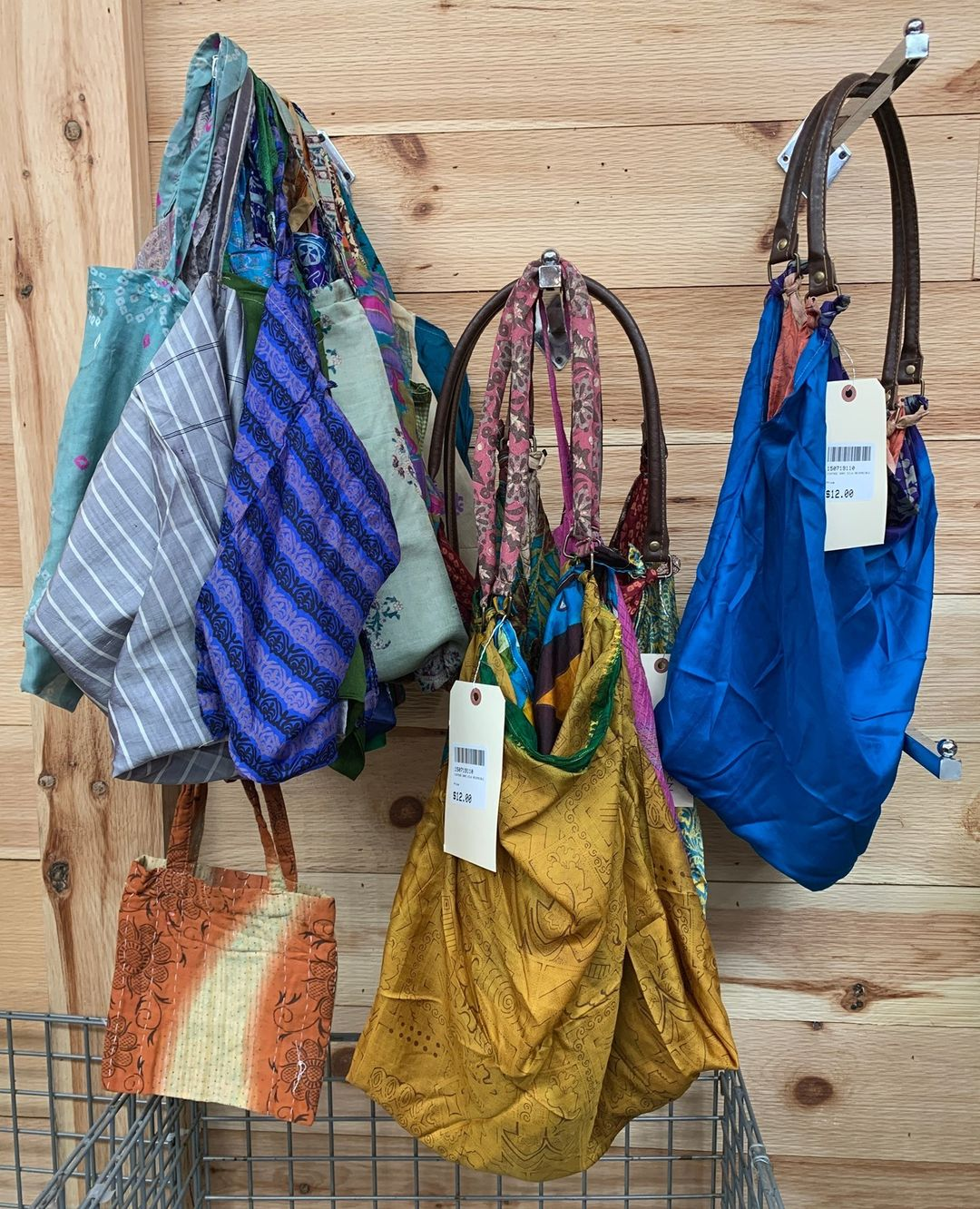 These Vintage Sari Silk Reversible Bags make great market totes, carry-on bags, beach bags, and everyday purses. Get them for just $12 each.