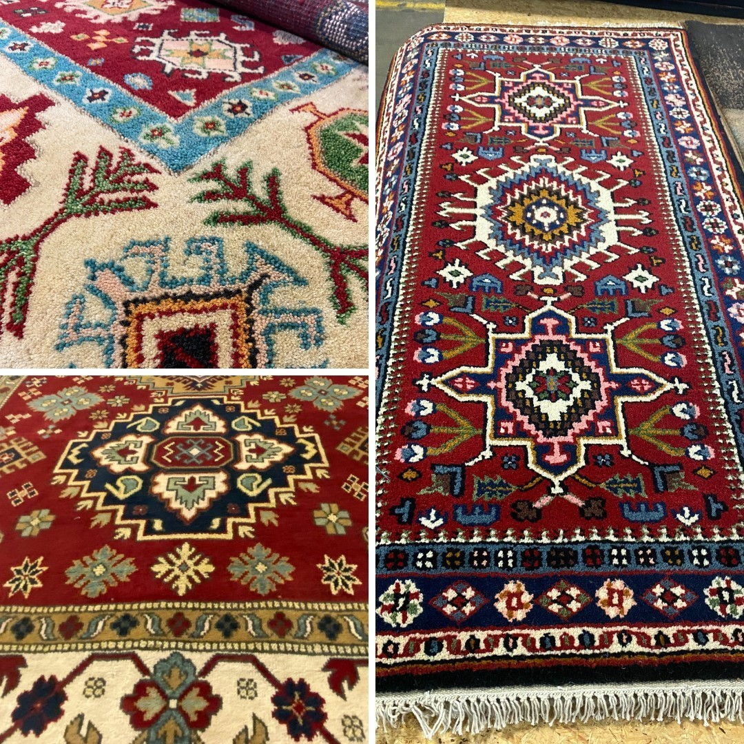 Colder weather is approaching. Conquer chilly floors and frozen toes with a hand-knotted rug. Layer up!