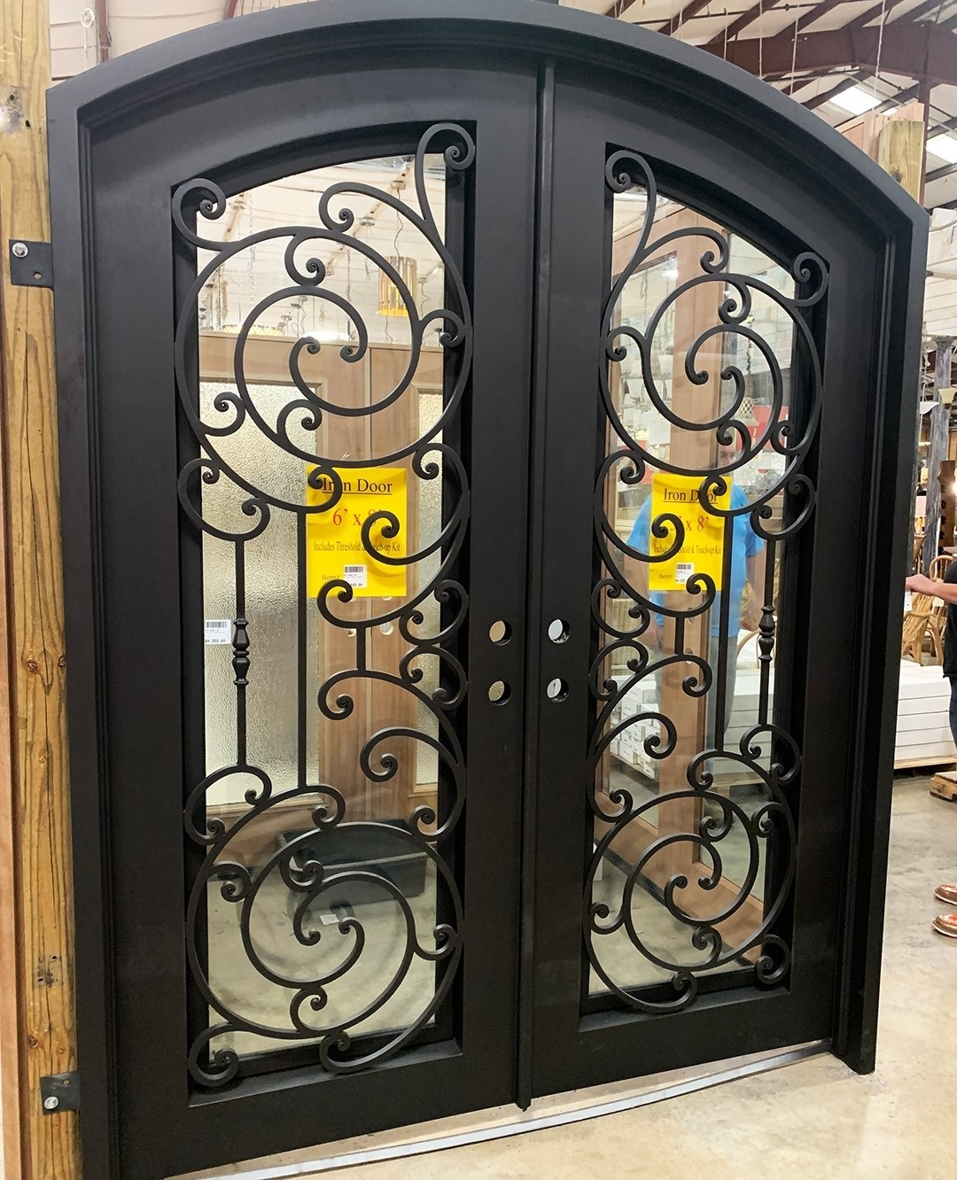 Iron Scroll Entry Doors are available at our Chesapeake, Chattanooga, Columbia, Birmingham, and Knoxville locations.